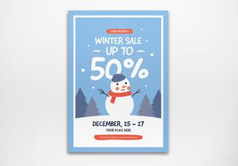 Winter Sale Flyer Layout