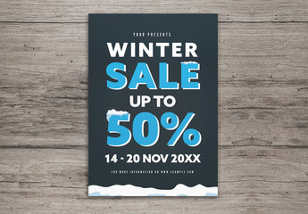 Winter Sale Flyer Layout