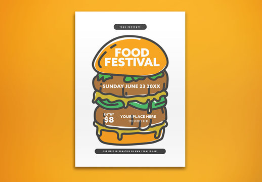 Food Festival Invitation Layout