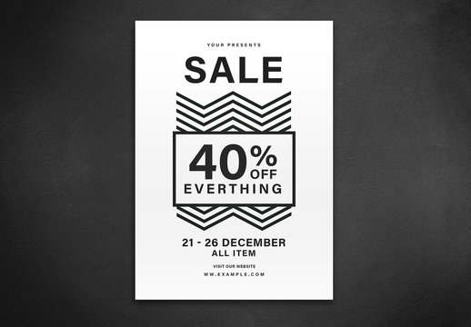 Sale Flyer Layout