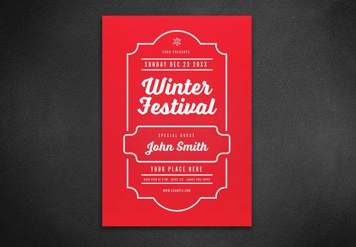 Winter Festival Flyer Layout