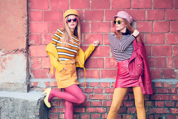 Wall Mural - Urban Fashion. Woman in colorful Outfit. Lifestyle