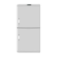 Fridge freezer. Refrigerator condenser icon on white background. Vector illustration. EPS 10.