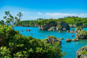 沖縄の海と岩