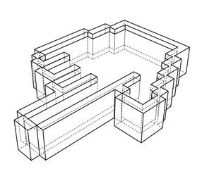 Pointer hand icon. 3d illustration