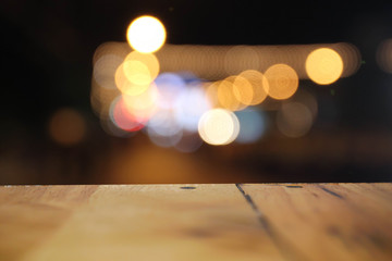 abstract bokeh street light background.