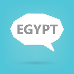 Egypt word on a speech bubble- vector illustration