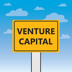 venture capital written on a billboard- vector illustration