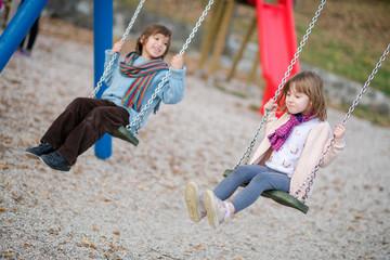 kids swing in the park