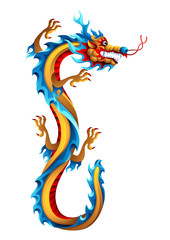 Illustration of Chinese dragon.