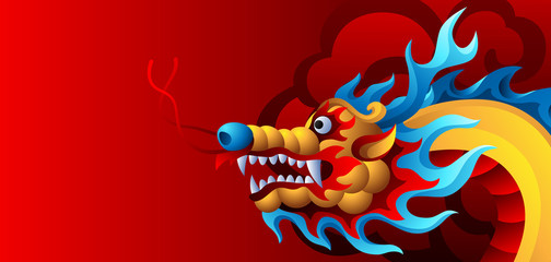 Background with Chinese dragon.