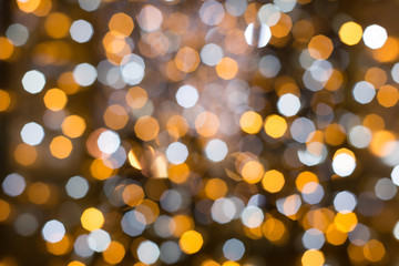 Glittering Christmas lights background