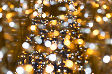 Glittering Christmas lights background