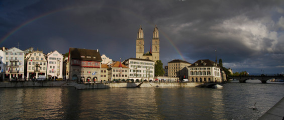 Zurigo, Svizzera. Vista sulla città.