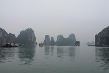 Floating city in Ha Long Bay
