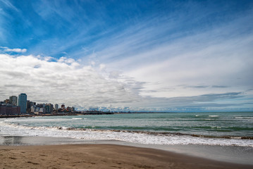 coast of the Atlantic Ocean. Argentina Mar del Plata