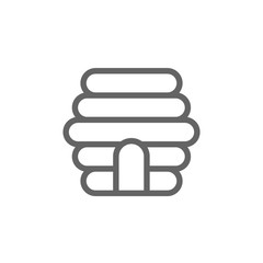 Simple bee hive line icon. Symbol and sign illustration design. Isolated on white background