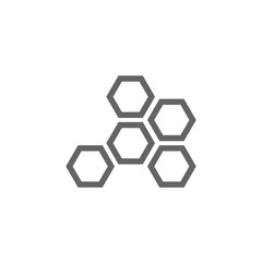 Simple honeycombs line icon. Symbol and sign illustration design. Isolated on white background