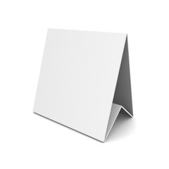 3d blank note book on white background