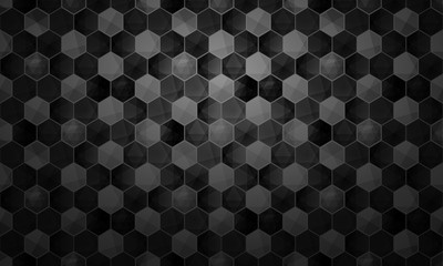 Abstract hexagonal background geometric grid pattern