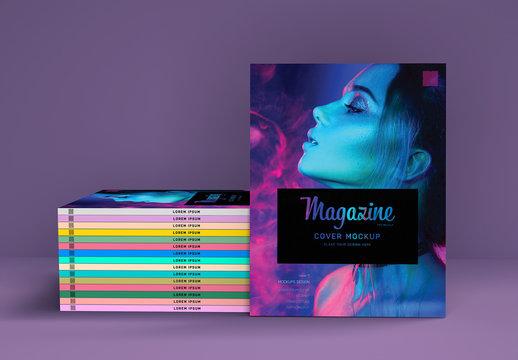Stack of Magazines Mockup