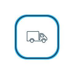 Vector illustration of truck icon line. Beautiful transport element also can be used as van icon element.