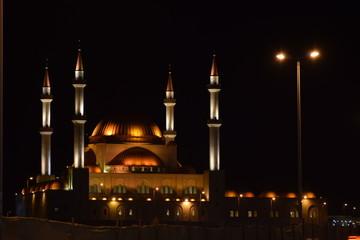 Al-Rajhi Mosque Night Fototapete