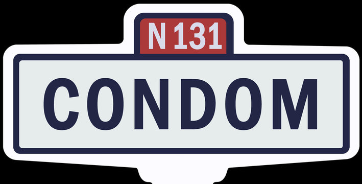 CONDOM - Ancien panneau entrée d'agglomération