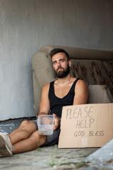 Homeless beggar