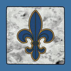 Historic Iconic Classic New Orleans Street Tiles Sidewalk Letter Alphabet Grunge Numbers & Symbols