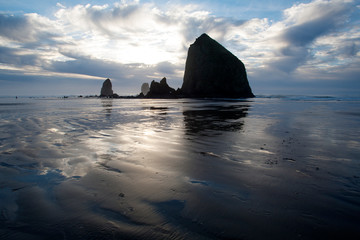 Cannon Beach and clouds