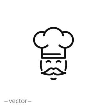 flat Vector icon - illustration of Chef icon