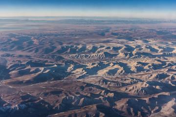 Aerial view of the Altai Mountains, Kazakhstan