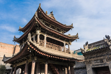 Very ancient chinese temple in the historic center of Xi'An, China
