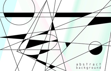Obraz Abstract background. Vector illustration of a style of suprematism. - fototapety do salonu