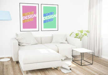 Two Framed Posters Mockup
