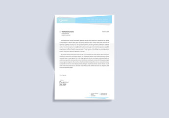 Letterhead Layout with Light Blue Header