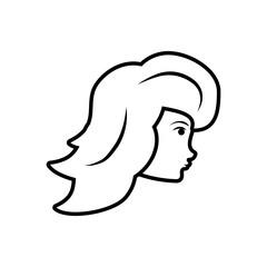 head of woman style retro