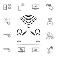 people communication icon. sosial media network icons universal set for web and mobile