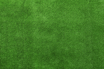 Artificial grass carpet as background, top view. Exterior element