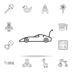 car with remote control line icon. toys icons universal set for web and mobile
