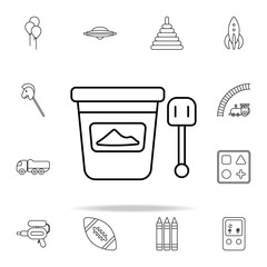 bucket and spatula line icon. toys icons universal set for web and mobile