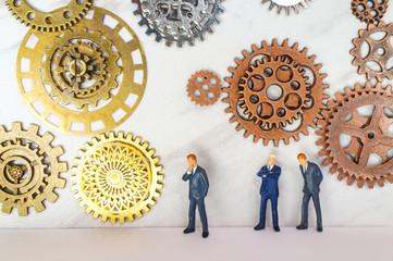 Businessmen Concept Gears
