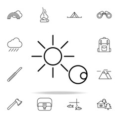 eclipse of the sun line icon. camping icons universal set for web and mobile