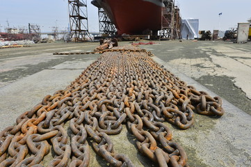 Anchor rope and chain