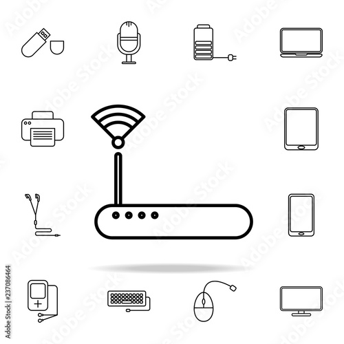 modem outline icon  technology icons universal set for web and mobile