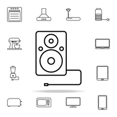 acoustic column outline icon. Technology icons universal set for web and mobile