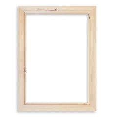 Frame wooden isolated