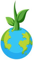 Planet earth plant concept