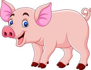 Smiling pig cartoon